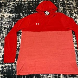 Under Armour Tech 1/4 Zip Hoodie Red Size XL NWT